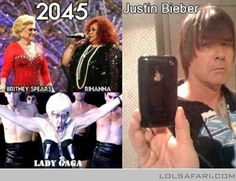 lady gaga, britney spears and justin bieber in future