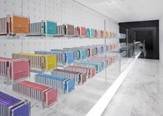 This Nendo designed chocolate shop is located in a small storefront plot in Tokyo's Ginza District.