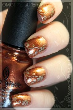 Harvest Moon with Passion Nails