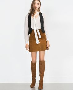 Image 1 of SUEDE SKIRT from Zara