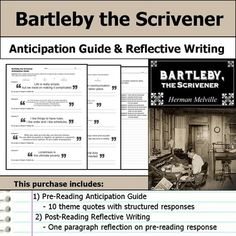 bartleby the scrivener and william wilson essay In bartleby the scrivener, the narrator is driven to the brink of insanity by bartleby, and is baffled even by the end of the story when bartleby is first introduced, the narrator feels that he is an honest, hardworking man who keeps to himself.