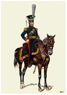 Colonnello Dominik Jerome Radziwill comandante l'8 rgt. ulani polacco