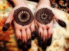 Front Hand Henna Mehndi Design : Fresh front hand eid mehndi art for wedding fashi