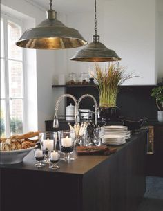 Very attractive kitchen. And check out those perfect pendant lights. -CW-