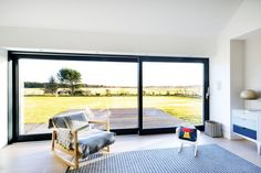 The demolition of a post-war bungalow leads to a bright, minimalist eco family home under in Aberdeenshire. Self Build Houses, Cottage Renovation, Bungalow House Design, Passive House, Building A House, House Plans, Home And Family, Minimalist, Windows