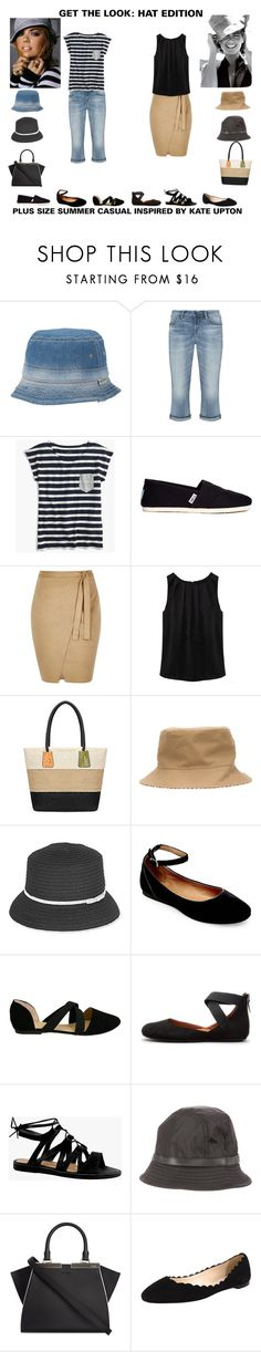 """""""Get the Look:Summer Hats"""" by jessicasanderstx ❤ liked on Polyvore featuring True Religion, Silver Jeans Co., J.Crew, TOMS, River Island, WithChic, Maison Michel, Sun N' Sand, Steve Madden and Gentle Souls"""