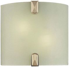 Shop for Minka Lavery 372 2 Light Width ADA Wall Sconce with Frosted Shade - Brushed nickel. Get free delivery On EVERYTHING* Overstock - Your Online Wall Lighting Store! Wall Sconce Lighting, Wall Sconces, Compact Fluorescent Bulbs, High Walls, Minka, Lighting Store, Energy Star, Ceiling Fixtures, Light Fixtures