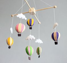 hot air balloon baby chandelier | ButtonFaceCo : diy baby mobile - how to make your own hot air balloon ...