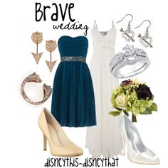"""""""Brave Wedding"""" by disneythis-disneythat... Love the Wedding Dress in this, not that I need it.. ."""