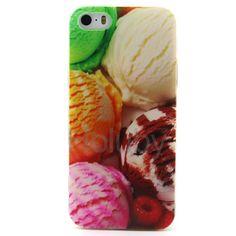 Farbige Zeichnung weiche TPU zurück Hülle für iPhone 5S 5 - Eis Ball