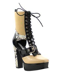 Look what I found on #zulily! Nude Josie Boot #zulilyfinds
