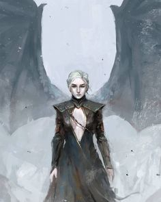 "Game of Thrones - Daenerys Targaryen ""Mother of Dragons"" by Nate Artuz Game Of Thrones Images, Arte Game Of Thrones, Game Of Thrones Books, Game Of Thrones Funny, Game Of Thrones Queen, Kit Harrington, Got Dragons, Mother Of Dragons, Queen Of Dragons"