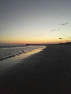 charleston, sc beach sunset