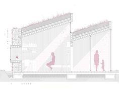 Gallery of Female Prison / OOIIO Architecture - 22 Architecture Collage, Architecture Graphics, Architecture Drawings, Architecture Portfolio, School Architecture, Architecture Details, Rendering Architecture, Architecture Diagrams, Classical Architecture