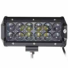 60w 12 leds light bar floodlight/spot lightt work light atv off road driving lamp dc10-30v Sale - Banggood.com Work Lights, Electric Scooter, Car Audio, Bar Lighting, Interior Accessories, Atv, Offroad, Outdoor Decor, Motorbikes
