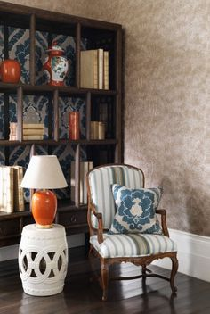 Welcome to the world famous Nina Campbell shop, selling luxury home products including designer wallpaper, fine china sets and more. Nina Campbell, Office Bed, Best Interior, Interior Design, China Sets, Reading Room, Luxury Homes, Accent Chairs, Wallpaper Furniture