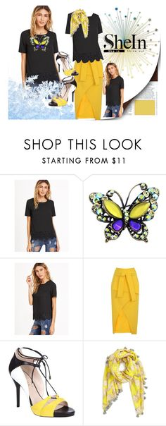 """""""Shein"""" by vaslida ❤ liked on Polyvore featuring Lavish Alice, ESCADA and San Diego Hat Co."""
