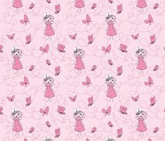 letterschming pink fabric by mymaki on Spoonflower - custom fabric