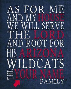 Arizona Wildcats Inspired Art Printable DIGITAL by ParodyArtPrints
