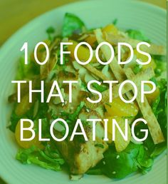 10 foods that will help you stop bloating during the Holiday indulgence!