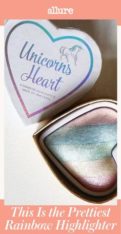 You may not be able to find unicorns in the wild because they've been busy working on improving your beauty routine. The packaging of the I Heart Makeup Unicorns Heart claims that the rainbow highlighter inside was made by the mythical creature. #BeautyHacksForTeens Beauty Routine Checklist, Everyday Beauty Routine, Daily Beauty Tips, Natural Beauty Tips, I Heart Makeup, Beauty Hacks For Teens, Old Makeup, Alcohol Free Toner, Young And Beautiful