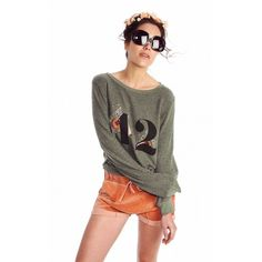 Wildfox Overgrown Baggy Beach Jumper ($98) ❤ liked on Polyvore