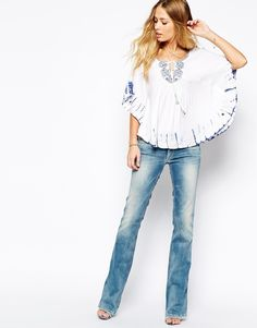 Image 4 ofPepe Jeans Tie Dye Peasant Top