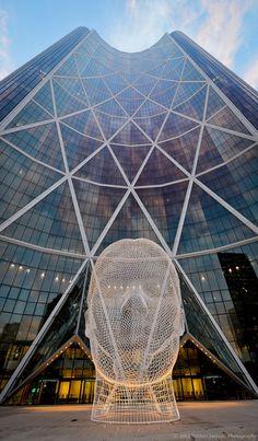 Wonderland sculpture in Calgary by Jaume Plensa