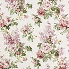 Vintage Flowers Wallpaper, Victorian Wallpaper, Damask Wallpaper, Flower Wallpaper, Decoupage Vintage, Decoupage Paper, Vintage Paper, Molduras Vintage, Sanderson Fabric