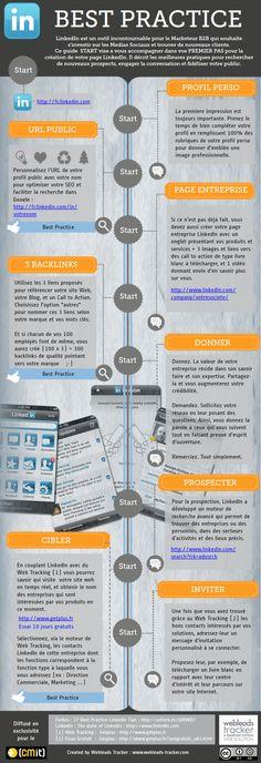 Bien débuter sur Linkedin en Marketing B2B  grâce à cette infographie WEBLEADS TRACKER