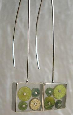 Carla Pennie Jewelry Design –  Serpentine Molecule Earrings