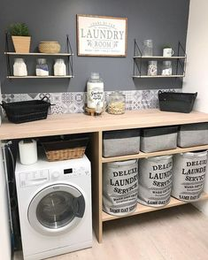 scandinavian furniture Home Deco auf In - furniture Laundry Room Layouts, Laundry Room Organization, Laundry Room Design, Laundry Rooms, Küchen Design, House Design, Design Ideas, Laundry Room Inspiration, Interior Inspiration