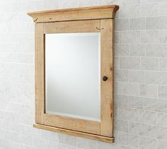 Mason Reclaimed Wood Recessed Medicine Cabinet - Wax Pine finish #potterybarn - And Holy Moley check out the price...can we make one???