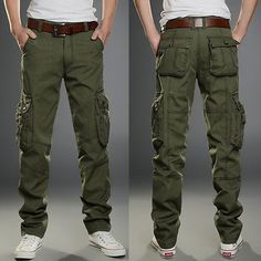 New Mens Tactical Overalls Pants Pocket Military Leisure Cargo Combat Trousers