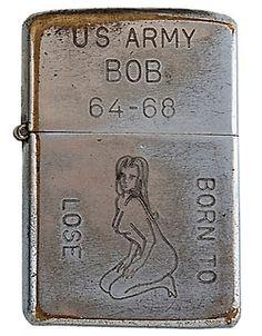 Vietnam-Era Zippos Engraved With Soldier's Personalities