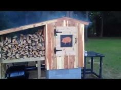 How to Build A Smokehouse: My Sowbelly BBQ Smokehouse Build Your Own Smoker, Bbq Smokehouse, Diy Smoker, Outdoor Ideas, Outdoor Decor, Gazebo, Smoking, Steps Youtube, Fire Places