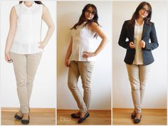 [Fashion] Let´s talk about business! Casual Business Outfit - Beige Hose, weiße Bluse & schwarzer Blazer