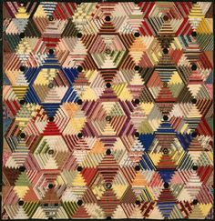 Image result for hexagonal Log Cabin (Six-Pointed Star) Quilt , by Jane Tucker