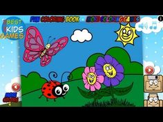Butterfly And Ladybabg in Nature - Fun Coloring Book