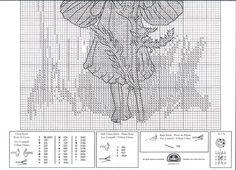 Cross stitch - fairies: Yarrow fairy - Cicely Mary Barker (chart - part B)