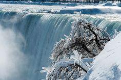 Fotostrecken - Wetter Bilder und Fotos - WetterOnline Beim kanadischen Teil ist das Wasser noch freier am fallen. Der Wasserdampf friert überall an. Bild: dpa