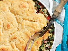 From bacon to carnitas to BBQ, pork has hit prime time nationally. This recipe featuring ham and the Southern staples greens and cornbread continues to be a go-to dinner for our food editors. Ham Recipes, Cooking Recipes, Recipies, Dinner Recipes, Crust Recipe, Southern Recipes, Food Dishes, Side Dishes, Cornbread