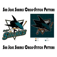 San Jose Sharks Cross Stitch Pattern