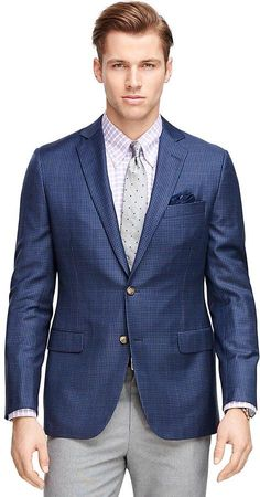 Fitzgerald Fit BrooksCool® Check with Windowpane Sport Coat