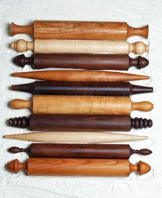 Vermont Rolling Pins - Vermont Rolling Pins, from the Shaker to the French, are hand turned, shaped from a solid block of maple, cherry or walnut hardwood.
