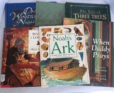 Christian BedTime Story Book Lot 6 Bible Stories Max Lucado Noahs Ark 3 Trees ++