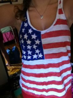 Painted myself a 4th of July tank top :)