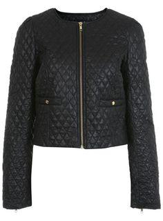 Miss Selfridge Black Short Quilted Jacket Miss Selfridge, Quilted Jacket, Black Shorts, Going Out, Personal Style, Autumn Fashion, Zara, Leather Jacket, Street Style