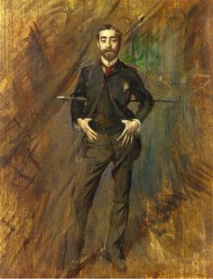 """""""John Singer Sargent"""", by Giovanni Boldini (Italian, Sargent was an American artist, considered the leading portrait painter of his generation. Giovanni Boldini, Italian Painters, Italian Artist, Beaux Arts Paris, Living In London, John Everett Millais, American Artists, Painting & Drawing, Cave Painting"""