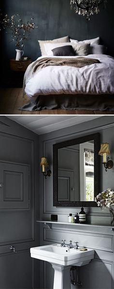 Dark grey interior design inspiration